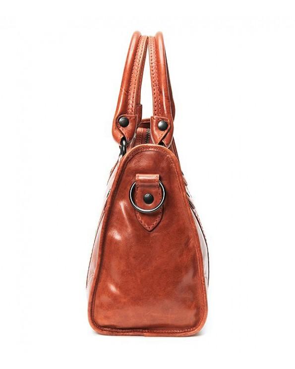 Melissa Washed Leather Handbag