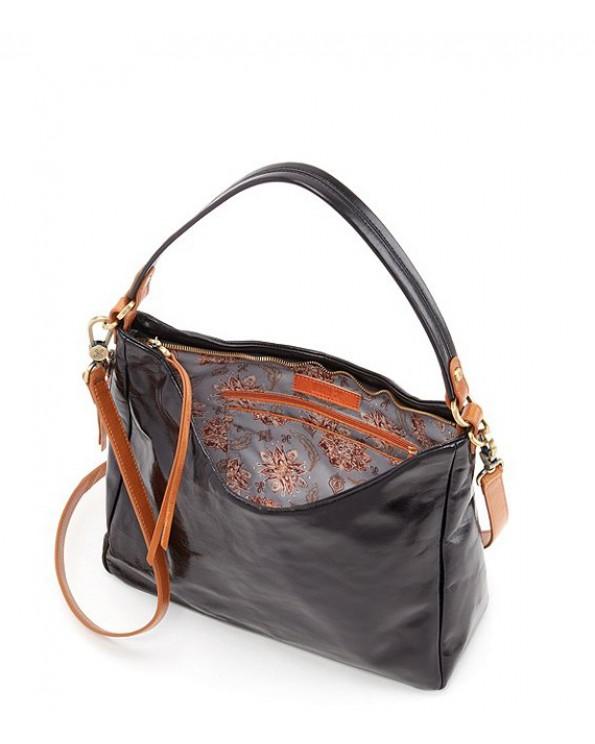 Delilah Shiny Leather Tramp Bag
