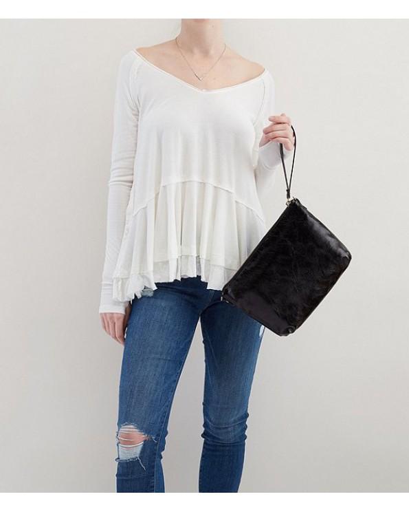 Kori Top Zipper Leather Cross-Body Bag