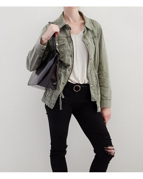 Patti'S One-Shoulder Zipper Top Grain Leather Tote Bag