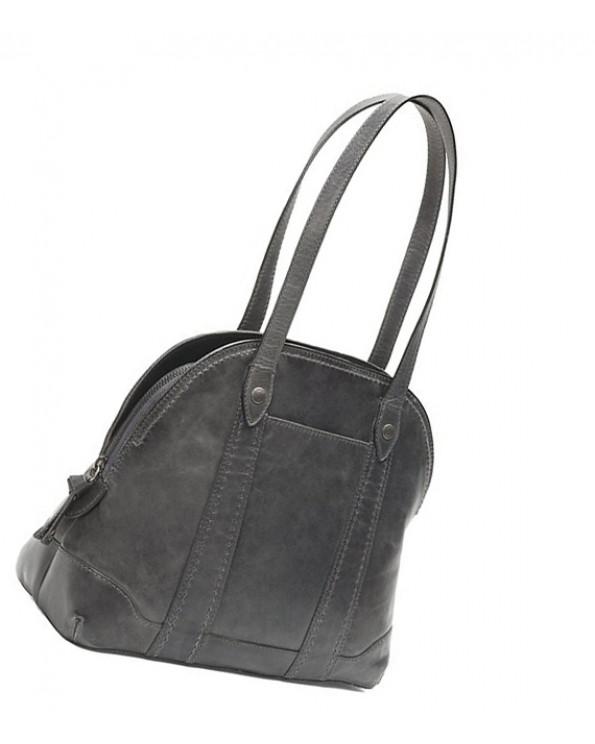 Melissa Zipper Hemispherical Leather Briefcase