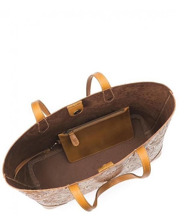 Melissa Artisan Leather Shopping Tote Bag
