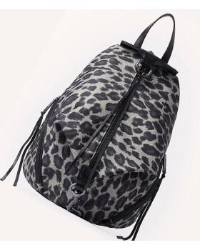 Julien Nylon Leopard Print Backpack