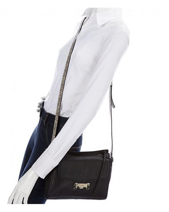 Vivia Leather Zippered Cross Body Bag