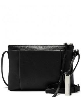 Dania Leather Zippered Cross Body Bag