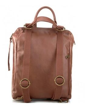 Loyola Open-Top Leather Rivet Backpack