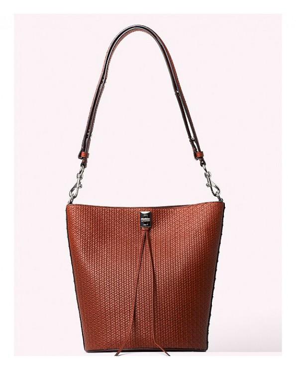 Darren Textured Leather Bucket Bag