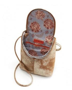 Fern Metallic Leather Cross-Body Bag