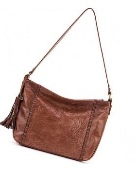 Melrose Embossed Leather Tramp Bag