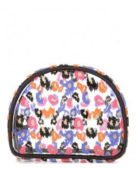 A See-Through Leopard-Print Dome Bag