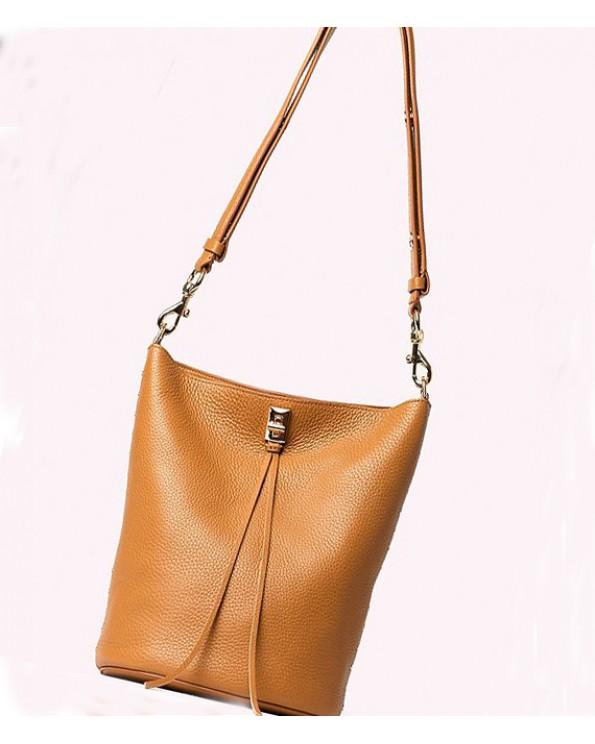 Darren Leather Buckle Bucket Bag