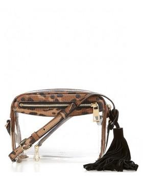 Lynza Transparent Leopard Print Cross-Body Bag